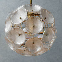 Glass Disc Round Pendant