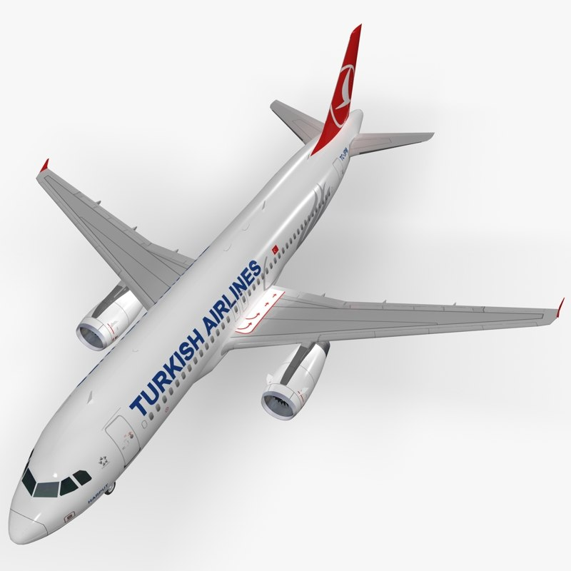 airbus a320-232 turkish airlines obj