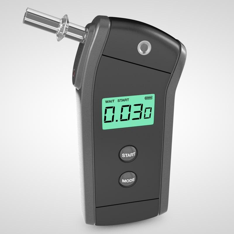 3d breathalyzer breath model