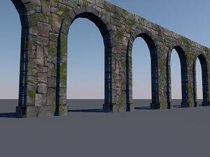 3d model stone arch