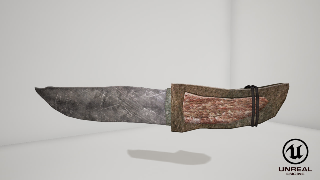 free knife 3d model