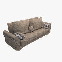 sofa modeled 3d model