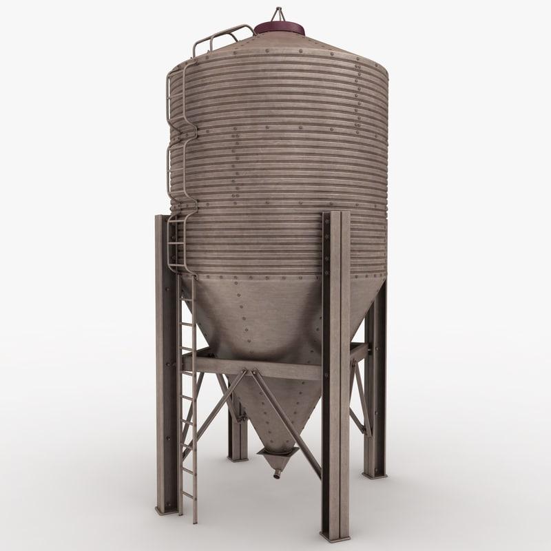 silo bronze 3d 3ds