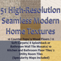51 High Res Seamless Modern Residential Tiles (Spec Maps Included)