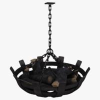 3d medieval chandelier