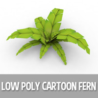 Cartoon Fern (Low Poly)