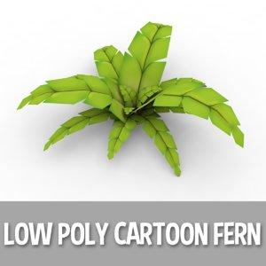 3d cartoon fern model