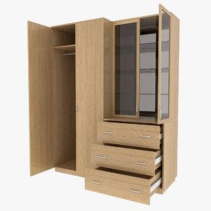 3d hallway closet model