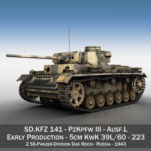 3d model iii - ausf tank