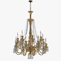 3d model of chandelier baccarat