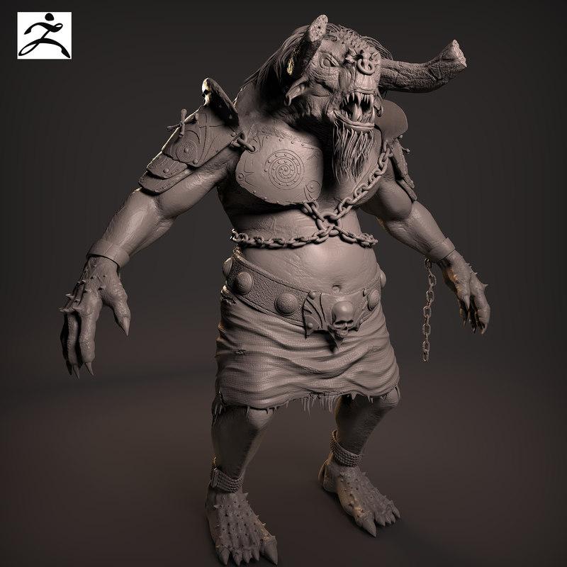 fantasy creature 3d obj
