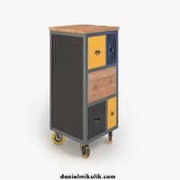 3d retro cupboard