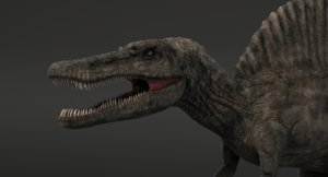 obj realistic spinosaurus zbrush