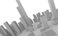 3d model cityscape planet city