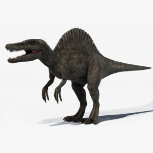 3d model realistic spinosaurus