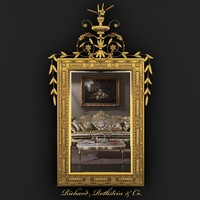 Elegant Neoclassical Gilt Mirror
