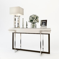 3d model baker iron eye console table