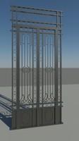Ornate Steel Gate 1600 X 3500mm