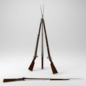 charleville musket 3d model