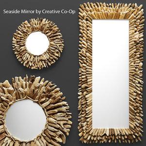 seaside mirror 3d model