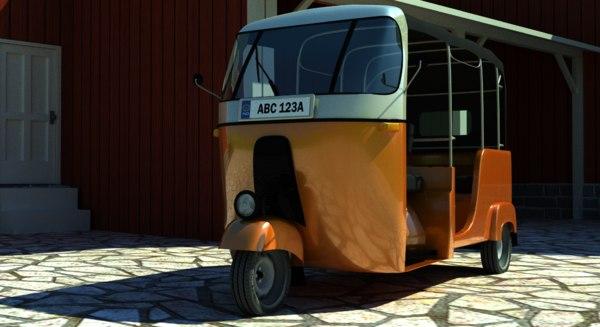 rickshaw three-wheeler samosa 3d model