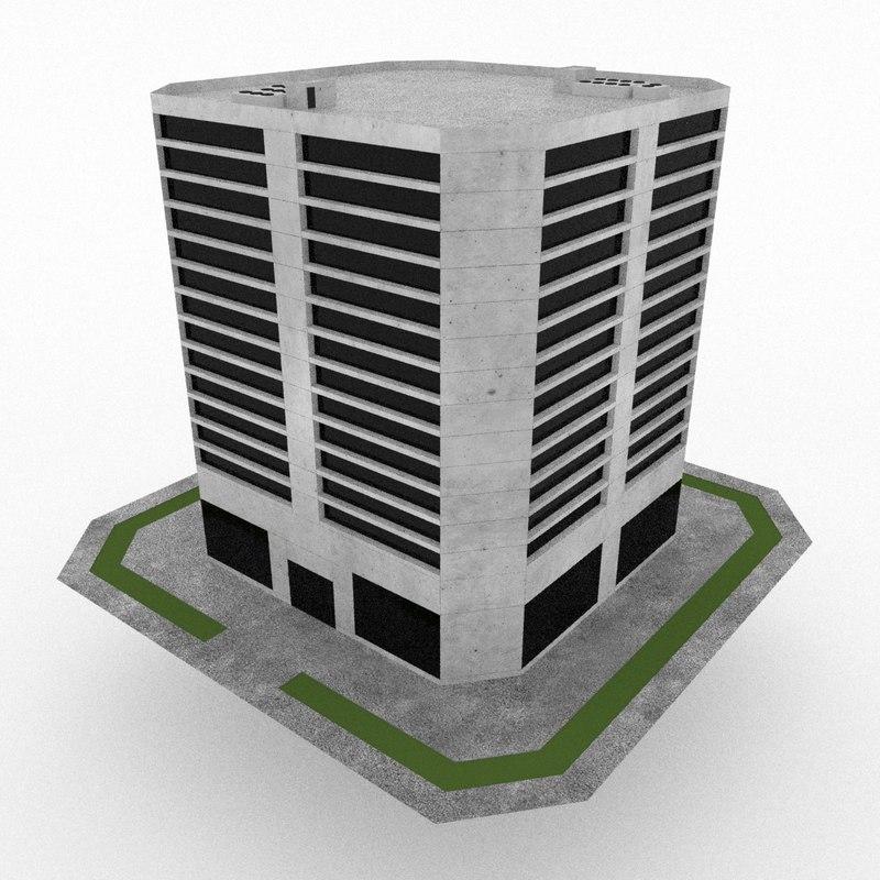 office build 22 3d model
