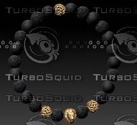 beaded bracelet 3d model