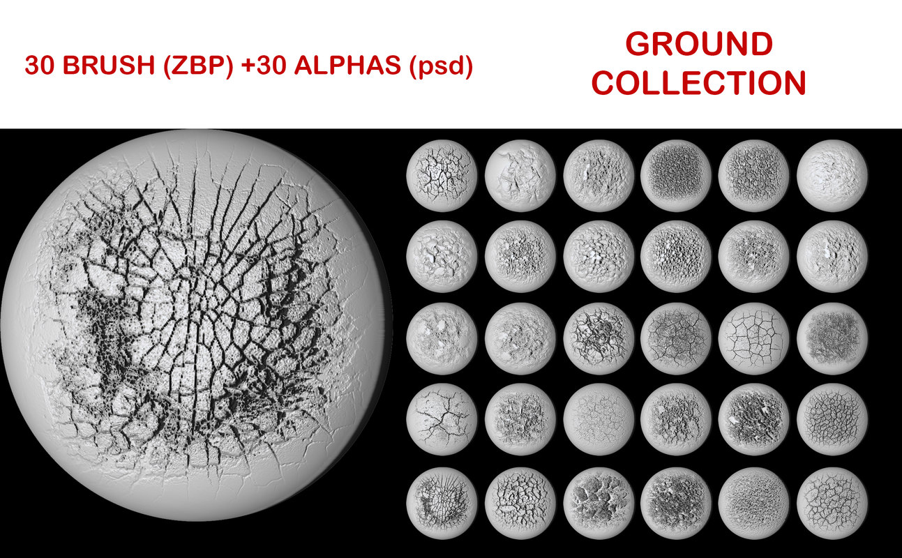 Ground brush collection for ZBrush