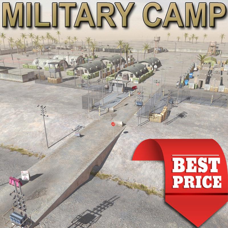 military camp desert max