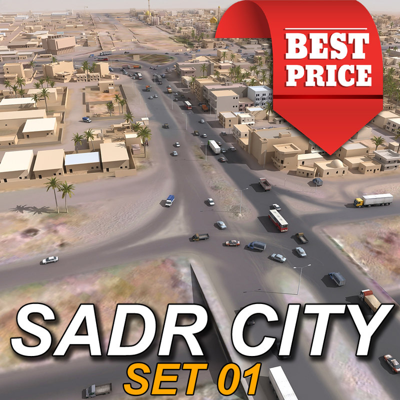 arab town sadr city 3d model