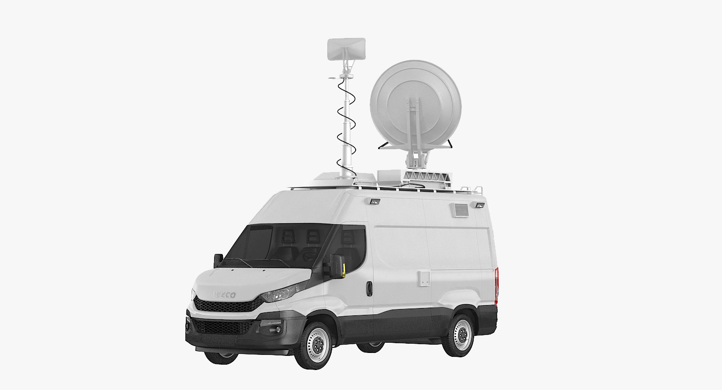 3d model broadcasting van