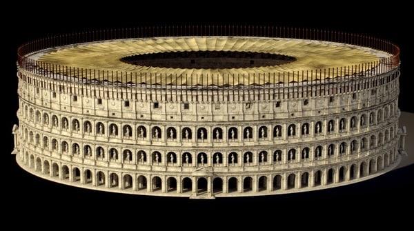 rome colosseum 3d x