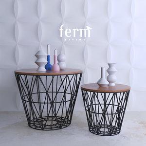 3d model ferm living baskets table