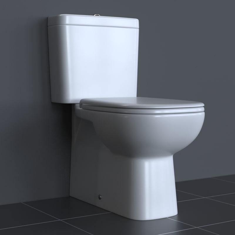 Fabulous 3d photorealistic duravit d-code toilet PV92