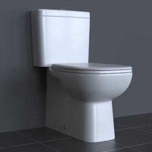 3d photorealistic duravit d-code toilet
