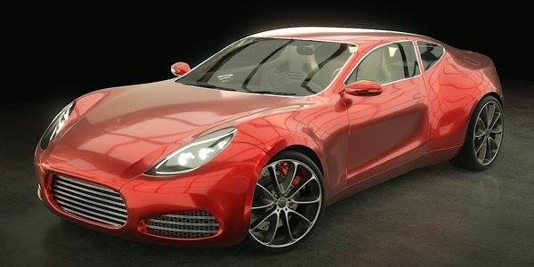 sports concept car rig blend