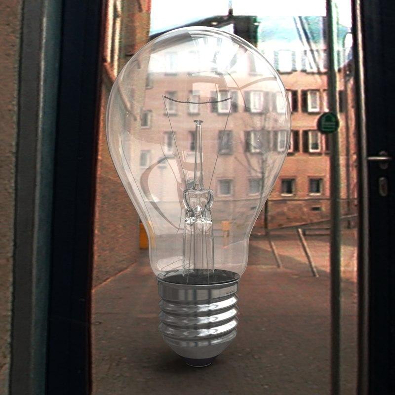 3d generic bulb lamp model