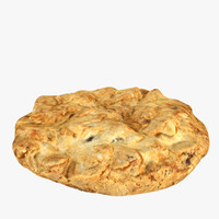 3d model of oatmeal cookie