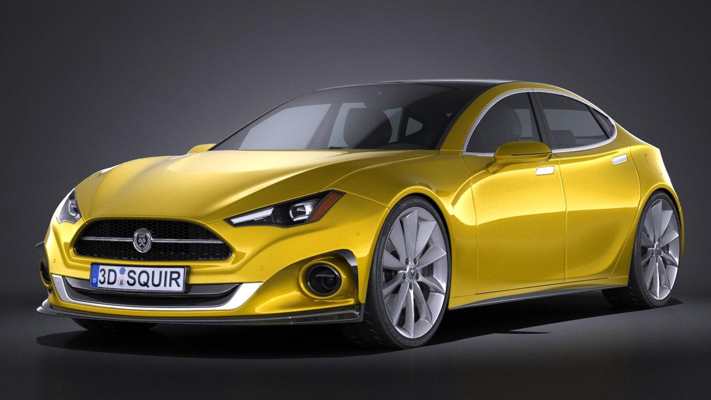 3d generic car sport model