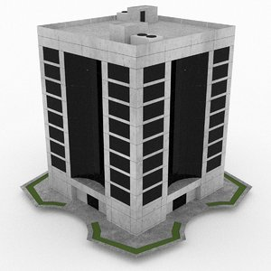 3d office build 24 model