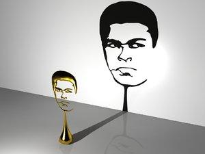 3d muhamed ali trophy model