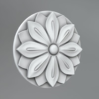 3d model classical decoration ornamental
