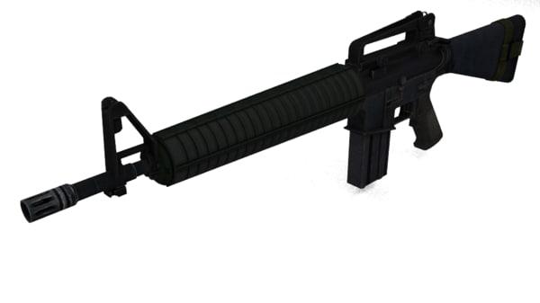 colt m16a4 rifle 3d obj