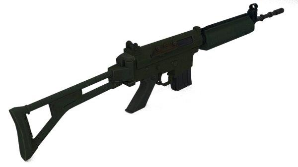 bofors ak 5 rifle 3d obj