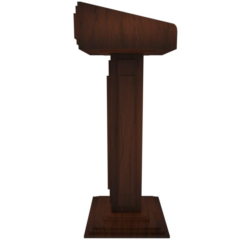 tribune chair pulpit 3d model