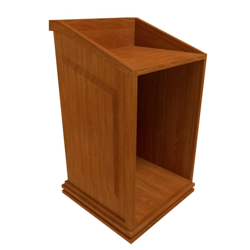 tribune chair pulpit obj