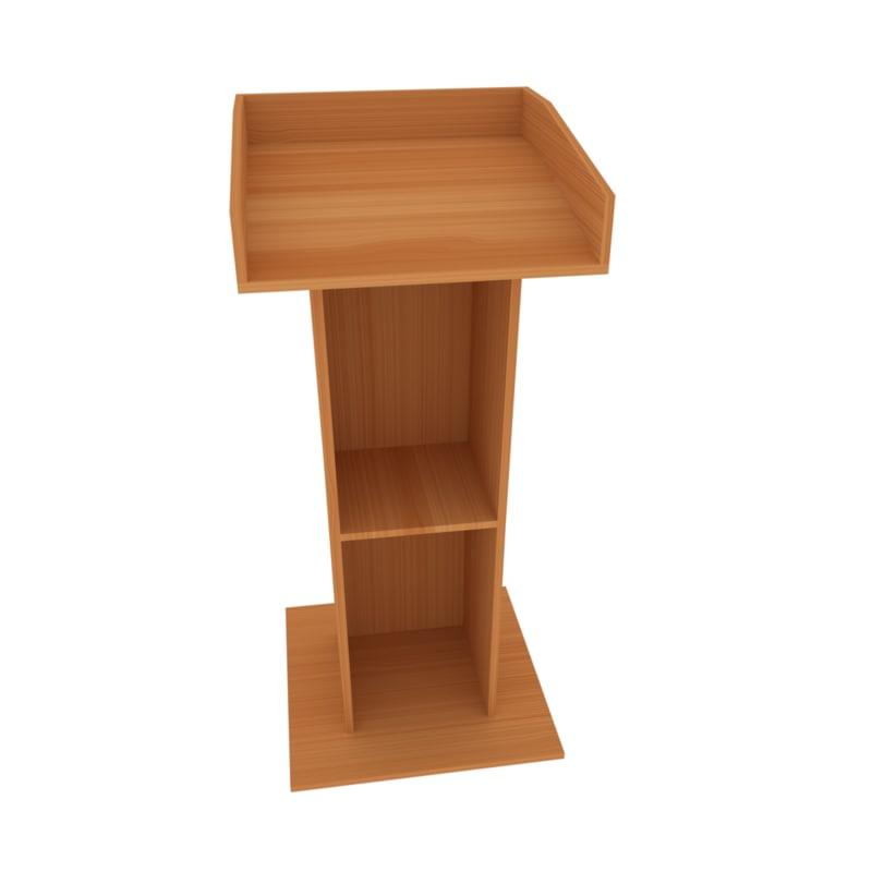 3d obj tribune chair pulpit