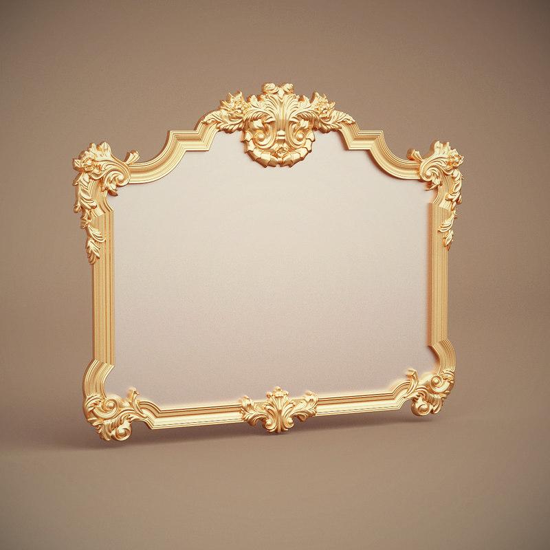 green apple mirror frame 3d model