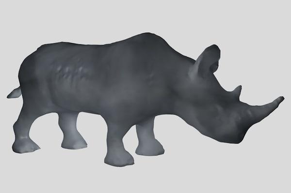 3d rhinoceros base mesh