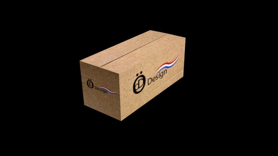 free 3ds model cardboard box